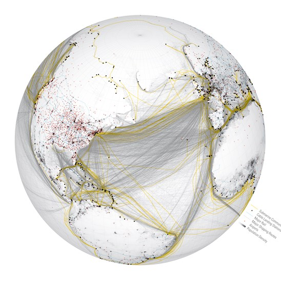 Global Operational Networks: Cables (2015); image: Ali Fard