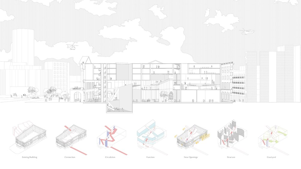 FOLDED BARCELONA - A NEW CATALAN PARLIAMENT by Haoruo Zhu and Fang Nan