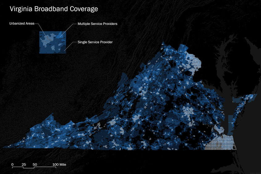 Virginia Broadband Coverage - Mapping