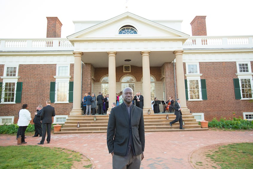 Sir David Adjaye at Monticello; Copyright: Thomas Jefferson Foundation at Monticello; Photo: Jack Looney