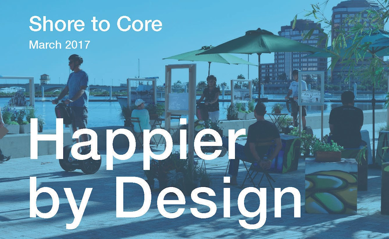 Happier by Design, an interdisciplinary consortium, generated new research on 'blue health' showing the power of urban water settings to improve health and wellbeing. The team won a research competition sponsored by the Van Alen Institute and West Palm Beach Development Agency, entitled Shore to Core (October 2016-March 2017). Led by Professor Jenny Roe.